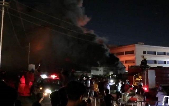 مصرع وإصابة العشرات بحريق مستشفى الحسين بذي قار       Harik.Ns1