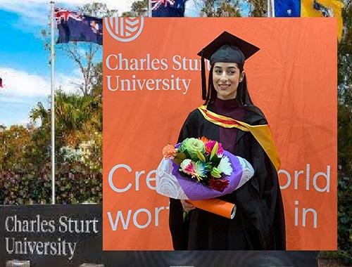 شابة عراقية تتفوق في دراسة طب الاسنان بأستراليا وتهدي نجاحها الى الشعب العراقي Zina.Arf