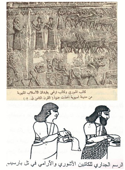 الفرق بين اللغة الآرامية أو السريانية، والأكدية بلهجتي بابل وآشور ج١ Aramya.2