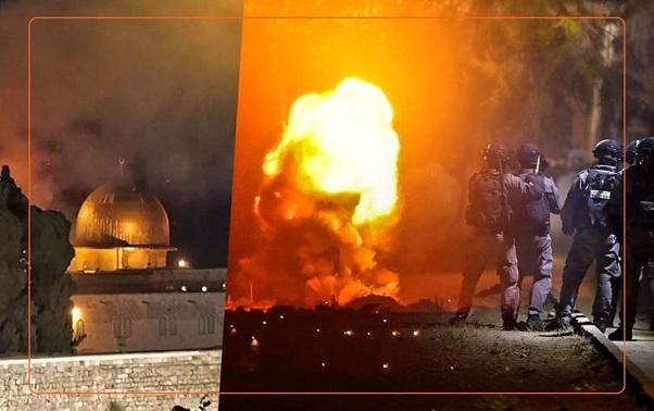 عشرون قتيلاً في غزة ووابل من الصواريخ على إسرائيل و٥٠٠ جريح بالقدس الشرقية Kuds.E2