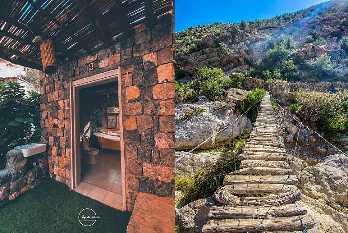 صور- اختبر طبيعة حياة الإنسان القديم في سلطنة عُمان بهذه القرية المخبأة وسط قمم الجبل الأخضر Oman.Brg